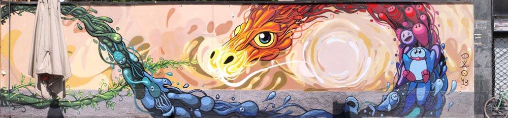 Murales nella Chinatown di Milano